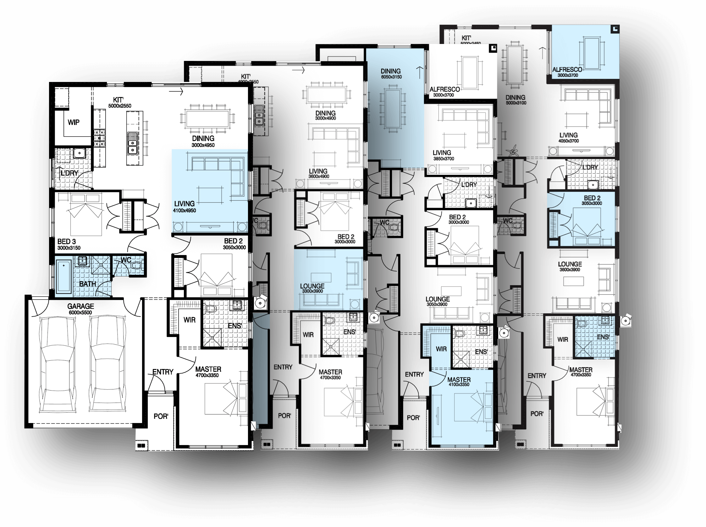 100 dual occupancy floor plans best floor plans in for Dual occupancy home designs corner block